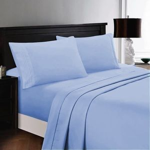 ⭐️SALE⭐️King 4pc Baby Blue Bedsheets